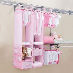 Image Is Loading 24 Piece Kids Nursery Closet Organiser Baby Clothes
