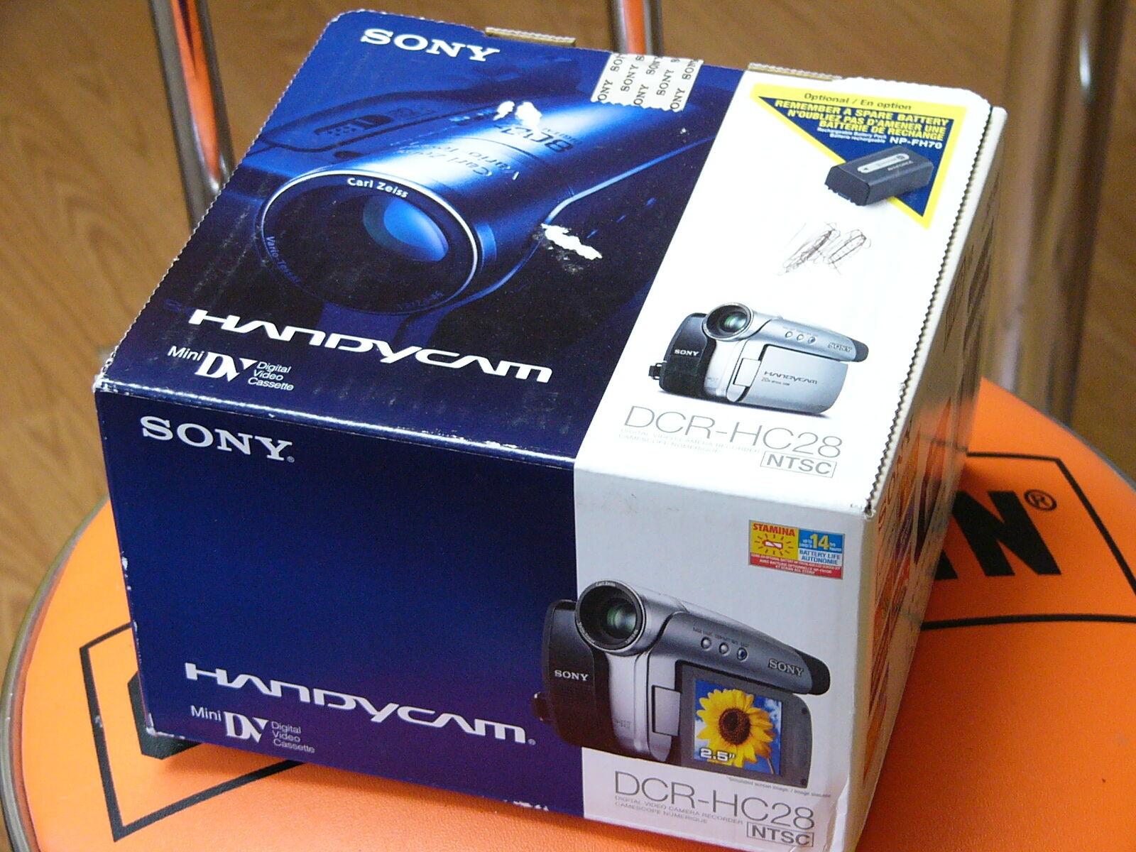 sony handycam dcr hc28 mini dv camcorder ebay rh ebay com Sony Handycam Instruction Manual Sony Handycam Digital 8 Camcorder