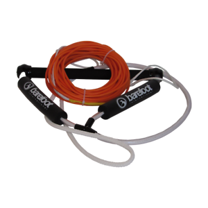 Barefoot International M1001-C orange Nylon Coated Wakeboard Rope W 15  Handle