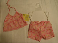 Play Baby Size 12 Or 18 Month Pink Swimsuit Swim Diaper Girls Shortini Set