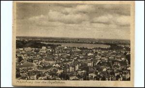 HAMBURG-1945-Partie-Innenstadt-aus-Vogelschau-Perspektive-Postkarte-Postcard