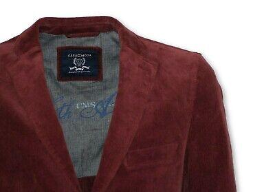 L 2XL 3XL Casa Moda cord Sakko Jackett Blazer Baumwolle Burgund  Gr