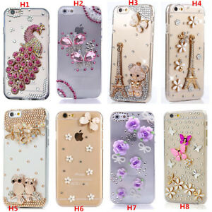 size 40 5d7f3 32364 Details about Custom-made Glitter Jewelled Bling Crystal Diamonds Soft  Phone back Case Cover c