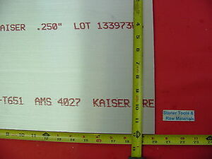 "1/4""x 12""x 20"" ALUMINUM 6061 Sheet Plate .250"" Thick T6 New 12"" Flat Bar Stock"