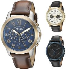 Fossil Men's Grant 44mm Chronograph Leather Watch - Choice of Color