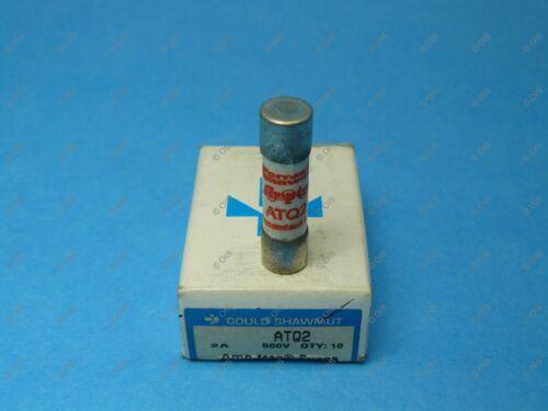 Shawmut ATQ2 Time Delay Fuse Midget 2 Amps 500 VAC Box Of Qty 10 New