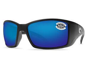 0b04030efc8 Costa Del Mar Blackfin Matte Black   Blue Mirror 580 Glass 580G ...