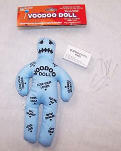 1 PINK NOVELTY ASSORTED VOODOO  DOLL W// pins funny joke hate plush black magic