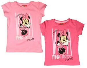Minnie-Mouse-T-Shirt-98-104-110-116-122-128-Shirt-kurzarm-Maedchen-Disney-Kinder