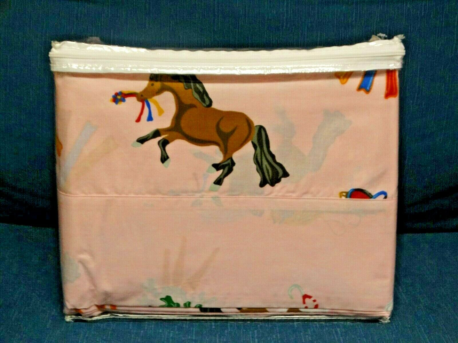 Hit the Hay purple Home Collection Queen Puff Pony Sheet Set  Pink  Horses New