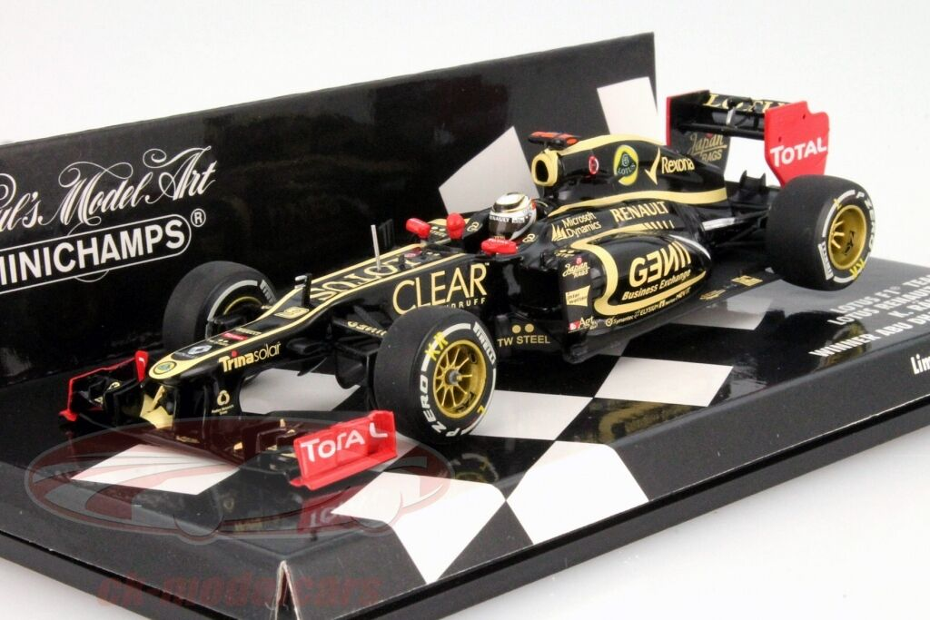 Minichamps 1 43 F1 Équipe Lotus Renault E20 K.Raikkonen Gagnant Abu Dhabi Gp
