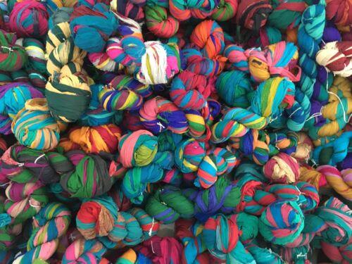 1 Hank Multi Color 100 Grams 100/% Silk Silk Chiffon Ribbon Yarn