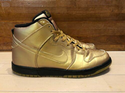 2004 Nike Dunk High Olympics Gold Black size 11.5