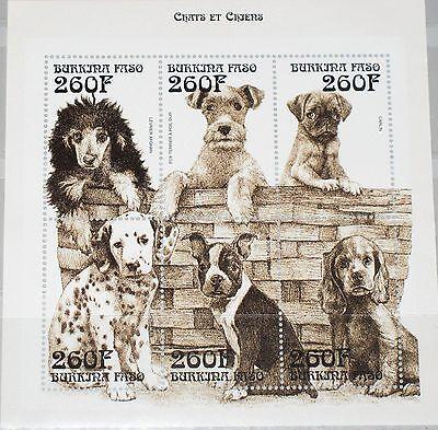 Burkina Faso Gewidmet Burkina Faso 1999 Klb 1664-69 1140 Dogs Hunde Fauna Tiere Domestic Animals Mnh