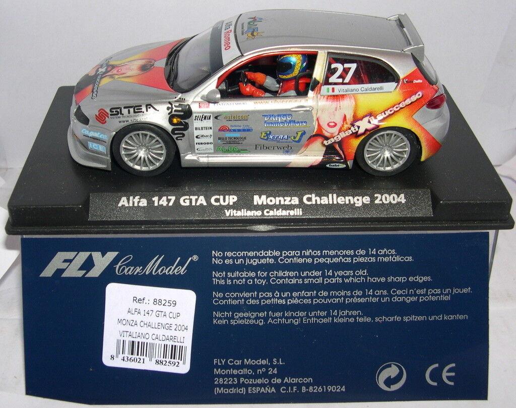 FLY 88259 SLOT CAR ALFA ROMEO 147 GTA CUP MONZA CHALLENGE 2004 CALDARELLI