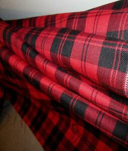 Red-Menzies-Tartan-Plaid-Fabric-Sold-by-the-Yard