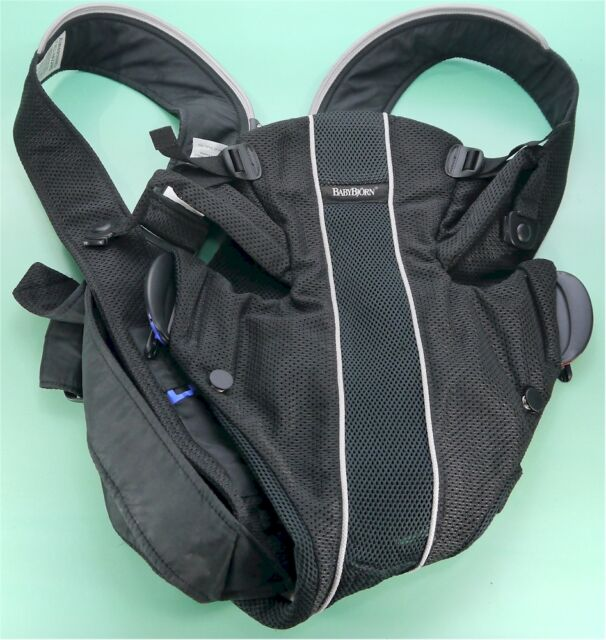 0a9ad4a5282 BabyBjorn 025002US Black Mesh Baby Carrier Synergy with Lumbar Support
