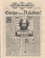 Harry Potter Daily Prophet Escape From Azkaban Sirius Black Flyer/Poster Replica