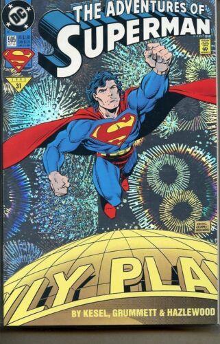 Adventures of Superman 1987 series # 505 Chromium cover near mint comic book