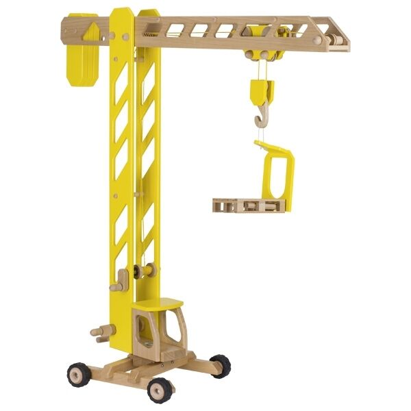 Crane Construction Crane Wooden Crane Goki 55937 Big 100 Cm