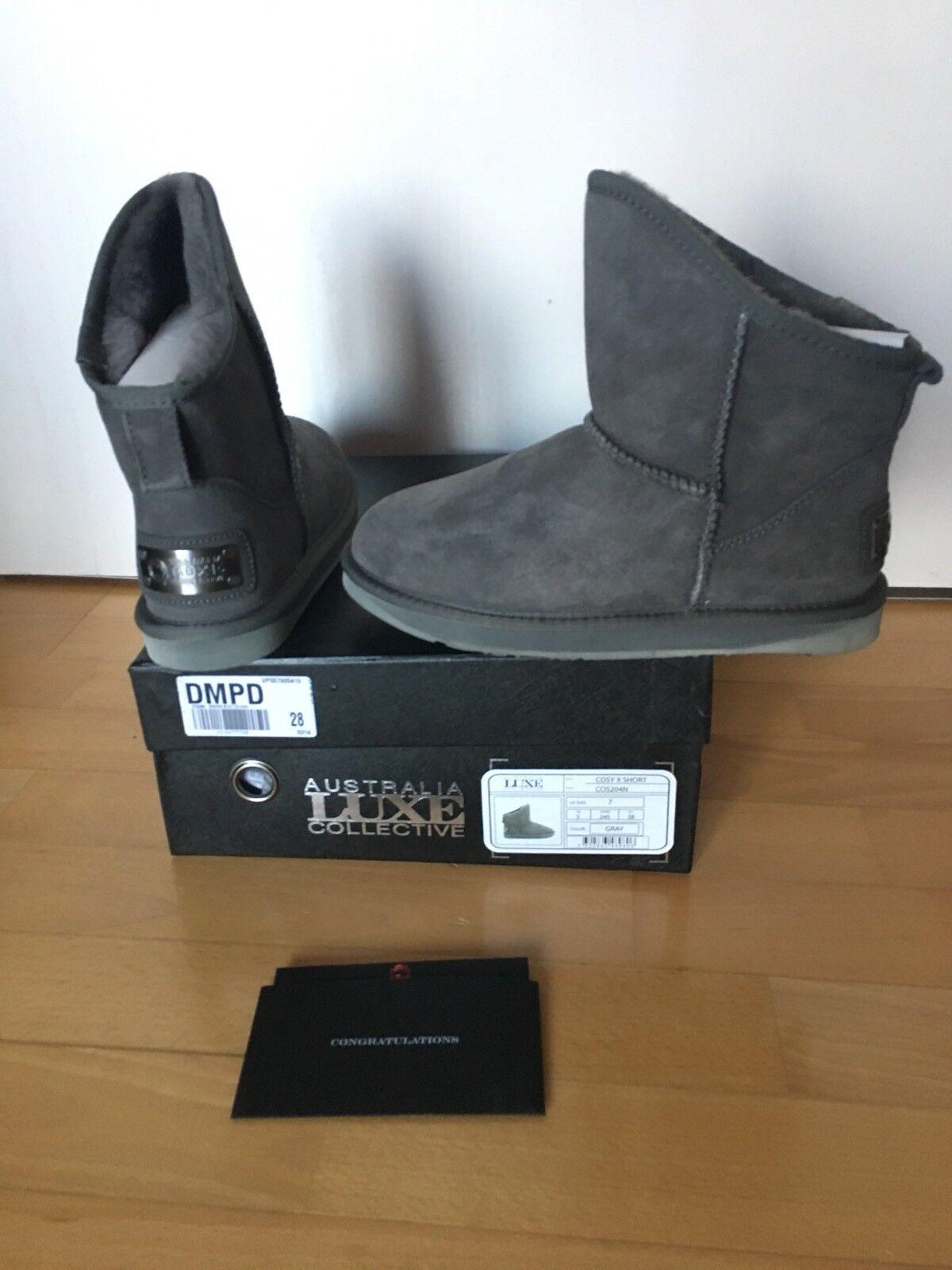 Australia Luxe Collective Stiefel Cosy X Short  Lammfell grau  Größe 38  NEU
