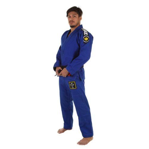 Kingz Basic 2.0 Blue BJJ Gi Brazilian Jiu-Jitsu Kimono Uniform Free White Belt