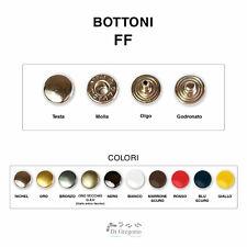 6 Bottoni Loden di Pelle Cuoio Colore Testa di Moro Diametro 2,5 cm.