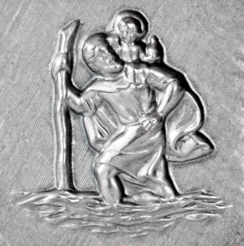 Santo Christophorus metal relief 3d santo patrono de los viajeros HR 102 Art.