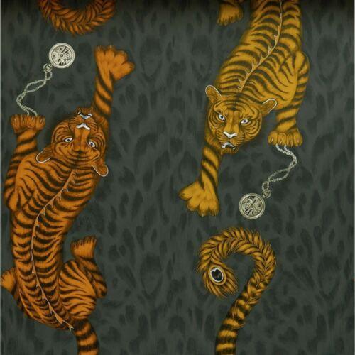 Clarke /& Clarke Emma Shipley Tigris papier peint W0105//01 flamme