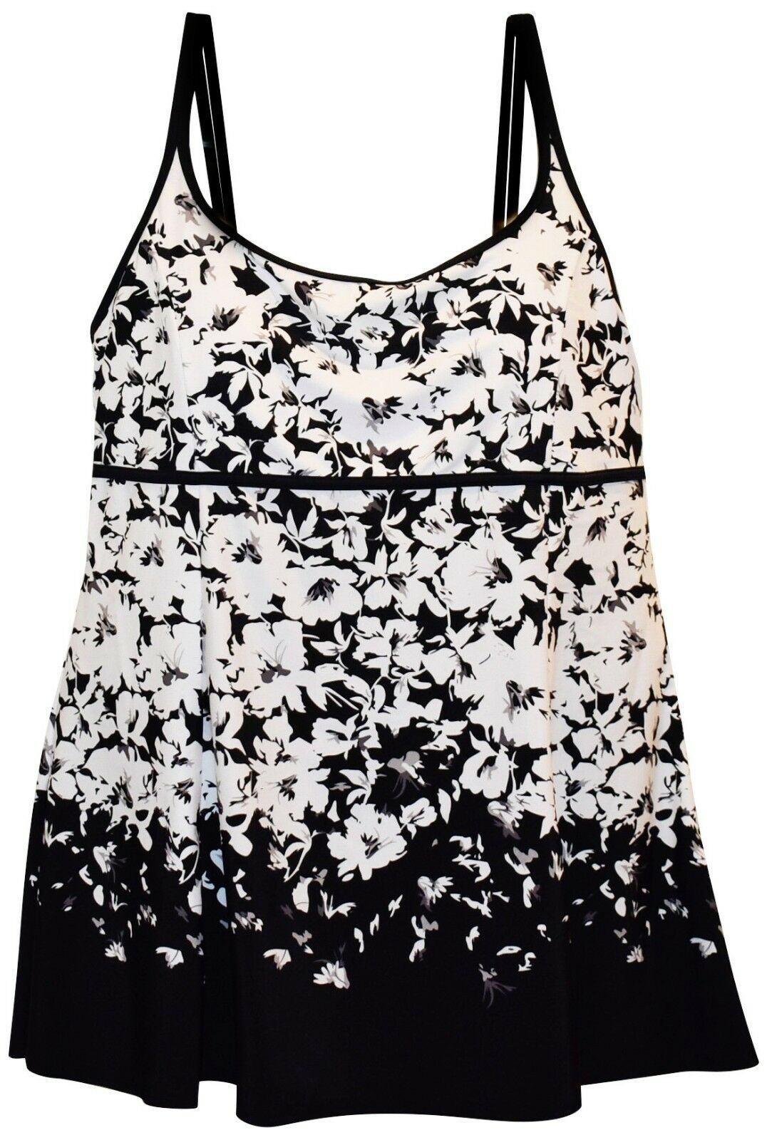 New Heat Womens Plus Size Scoop Swimdress Swimsuit 18 20 22 24 W Floral