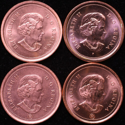 CANADA SET OF 4 DIFFERENT 2006 1 CENT UNCIRCULATED