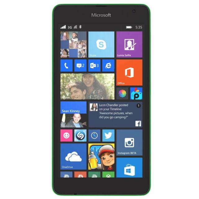 Microsoft Lumia 535 - 8GB - Grün (Ohne Simlock) Smartphone Single Sim Wlan