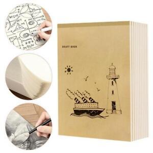 A4-40-Seiten-Notizbuch-Innenseite-Graffiti-Draft-Sketchbook-Verdicktes-Bei-Heiss