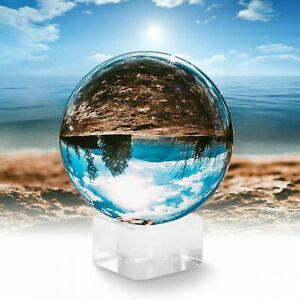 Clear-Crystal-Ball-K9-80mm-Photography-Lens-Sphere-Ball-amp-Stand-UK-Seller