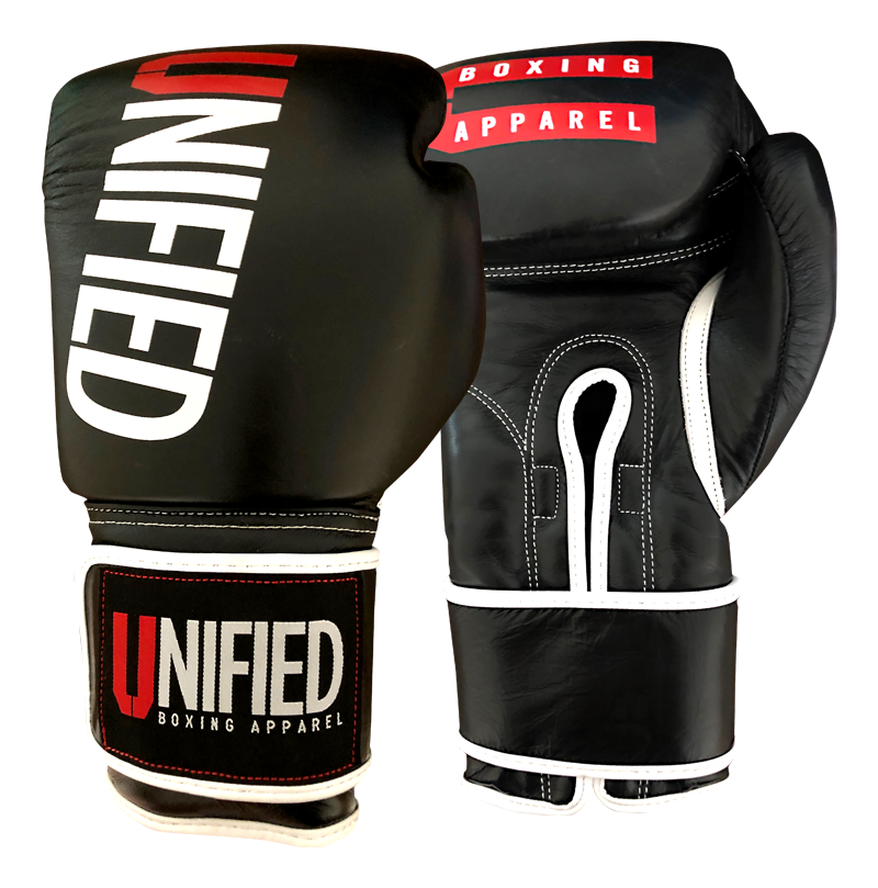 Unified Elite Sparring and Heavy Bag Boxing Gloves made with Cowhide Leder
