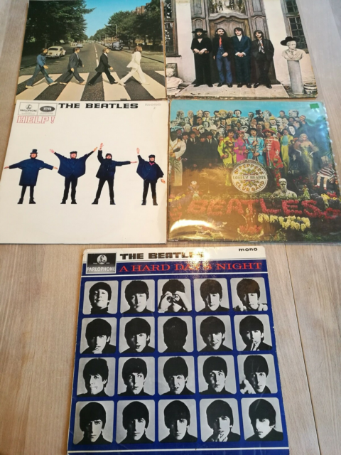 LP, The Beatles, Rock, The Beatles pladerne,  Help,  A hard…