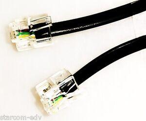 3m-Anschlusskabel-Modular-Kabel-6P4C-RJ-11-Stecker-schwarz-Western-Stecker-3-0-m