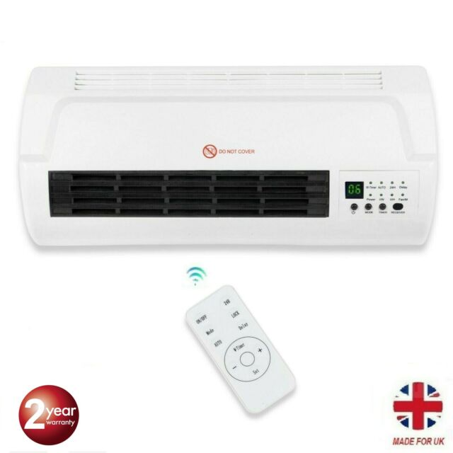 2KW WALL MOUNTED FAN HEATER WITH REMOTE CONTROL /& LED DISPLAY