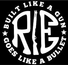 """RE  LIKE A GUN WHITE STICKER  DECAL STICKER VINYL   4.75"""" X 4.75"""" INCH"""