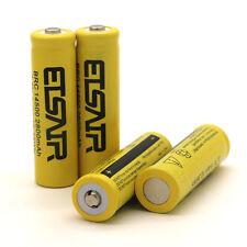 4pcs Full 2800mAh 14500 Battery Flashlight Rechargeable Li-ion 3.7V Battery