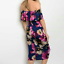 Womens-Beware-Multi-Color-Floral-Off-Shoulder-Sexy-Bodycon-Midi-Casual-Dress-M thumbnail 2