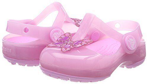 Crocs Girls/' Isabella Embellished Clog Pink Butterfly Size 9 10 Sameday Dispatch