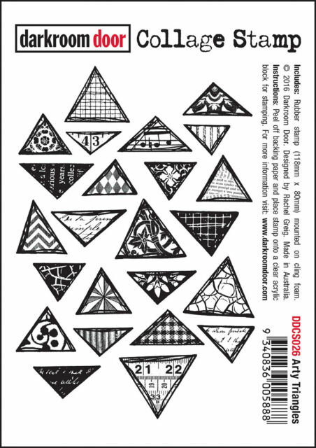 """Darkroom Door """"Arty Triangles"""" Collage Cling Rubber Stamps"""