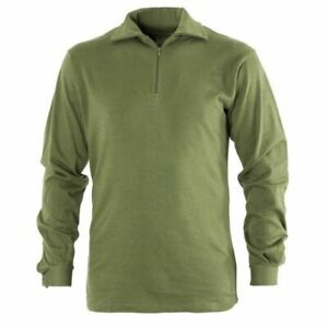 HIGHLANDER NORWEIGAN ARMY FLEECE LINED SHIRT MILITARY FIELD PATROL NORGIE TOP