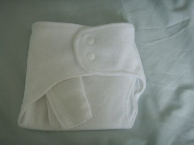 Fleece Back Exquisite Craftsmanship; New Made In Uk Med Shaped Fitted Nappy Snap Fasten Zorb~13lb Aver Nappies