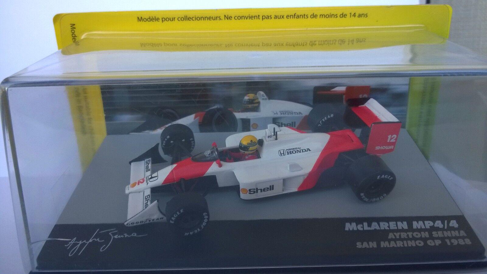 1988 McLaren Mp4 4 Eaglemoss 1 43 Ayrton Senna Brazilian