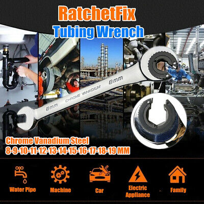 Magic RatchetFix Tubing Wrench with Flexible Head 8-19mm UK STOCK nzm Hot Sales