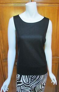 Max-Edition-Faux-Leather-Sleeveless-Top-Sz-L-NWT-98