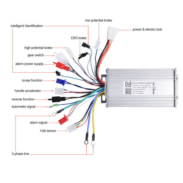 48v 500w Brushless Motor Controller Speed for E-bike Electric Bike Scooter