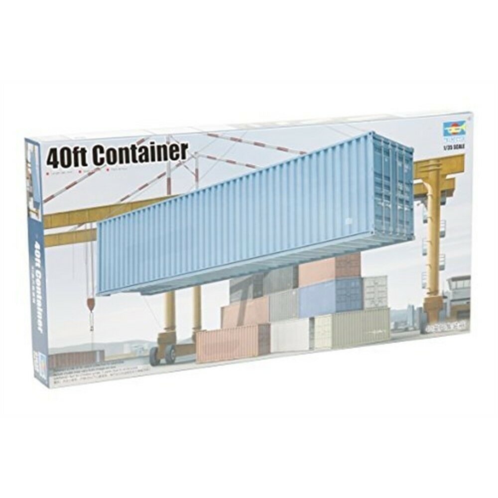 1 35 40ft Container Model Kit - Trumpeter 135